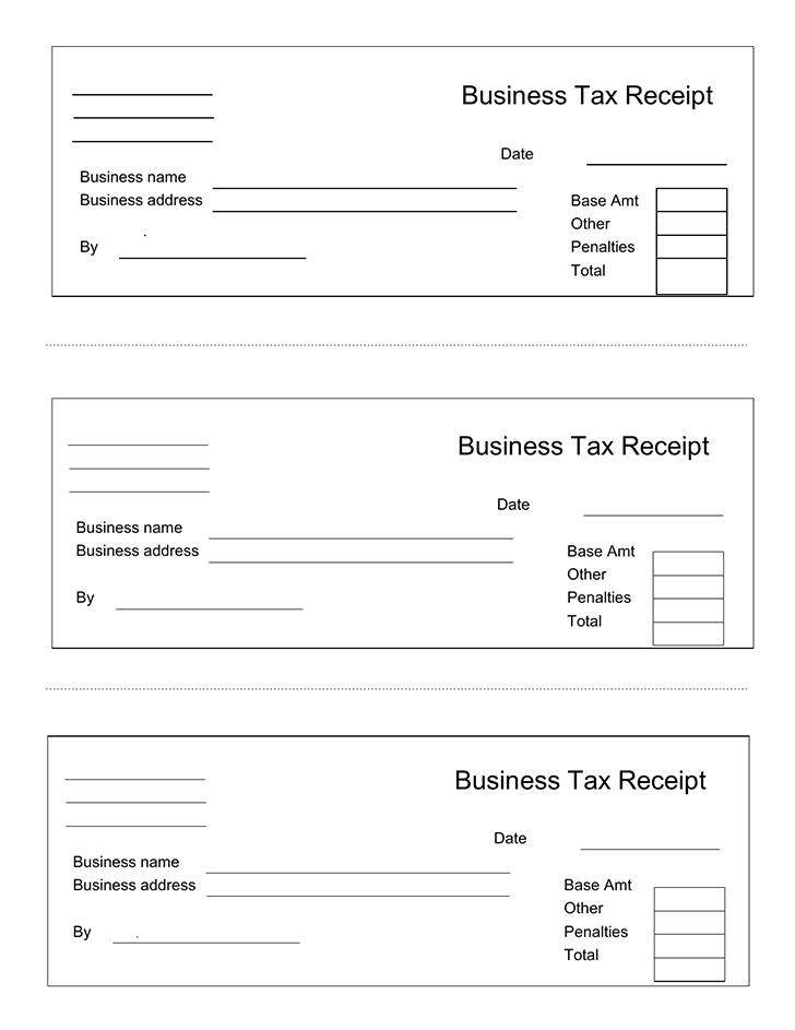 Business receipt template business tax receipt sample friedricerecipe Choice Image