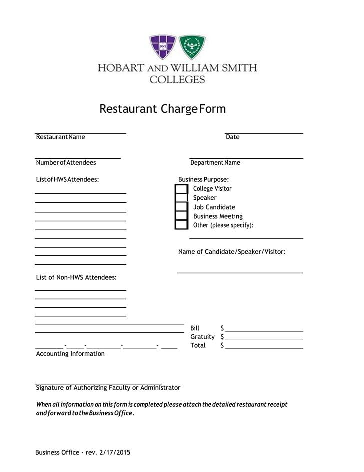 free detailed restaurant receipt