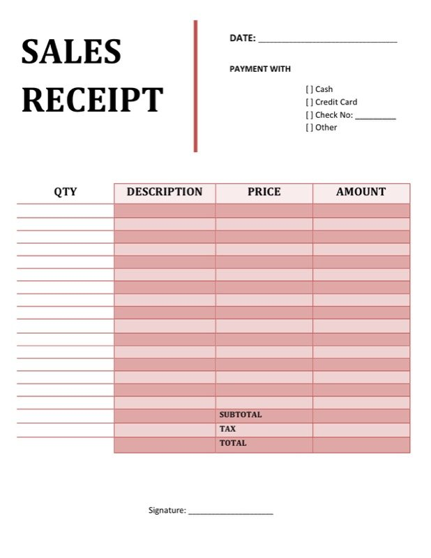 free car sale receipt template