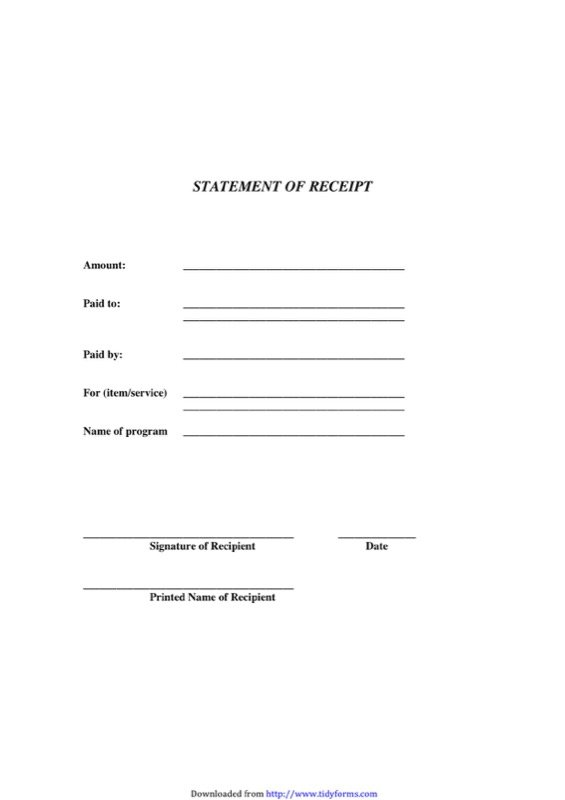 free generic receipt template