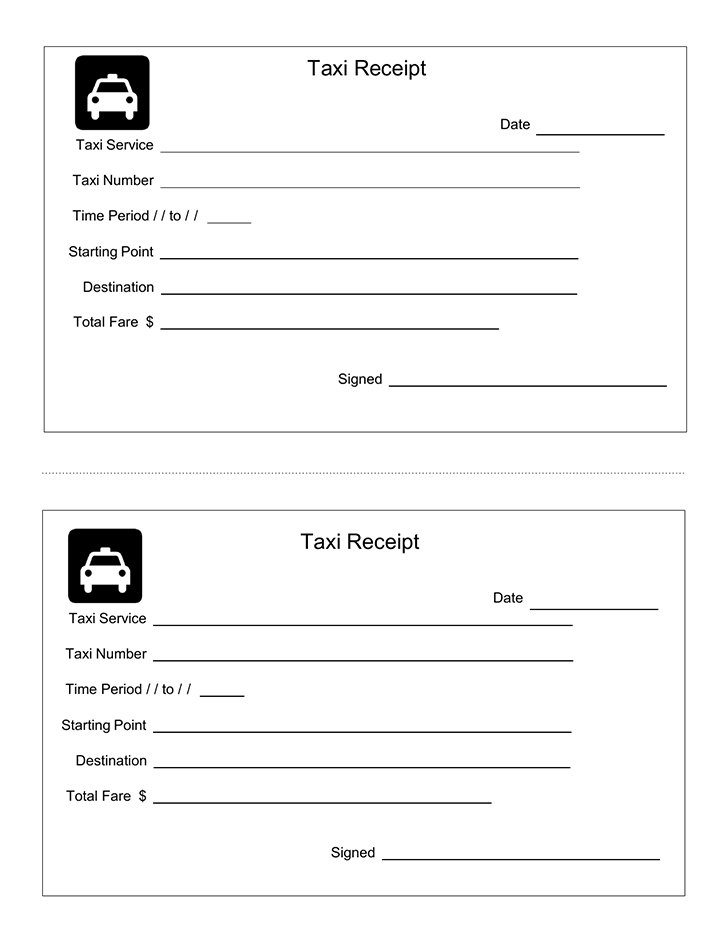 free taxi receipt format